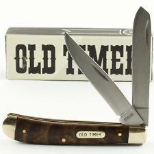 SCHRADE Old Timer Ironwood Handles TRAPPER Folding Pocket Knife 94OT 2 Blades