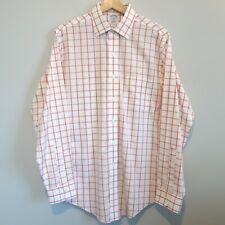 Brooks Brothers Non Iron Slim Fit Spread Collar Shirt 15.5 35 Windowpane Check