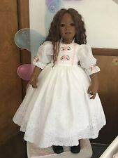 Fits Himstedt Nia And Others White Eyelet Dress Pink Trim #390 New