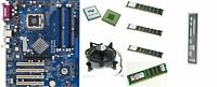 scheda madre ASROCK 775V88+ + cpu INTEL PENTIUM 4 3.0 GHZ 64BIT + 4GB RAM DDR1