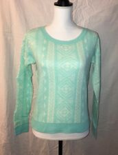 The Classic Sweater W/Stylish Sleeves, Size Small, Acrylic, Green