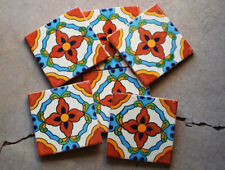 """90 Mexican Talavera Tiles. Hand made-Hand painted 4 """"X 4"""""""