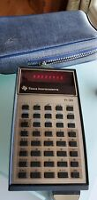 Vintage Texas Instruments Ti-30 Calculator with Case Tested Works retro red led