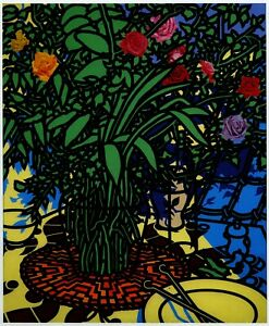 Study of Roses Patrick Caulfield print in 11 x 14 inch mount ready to frame