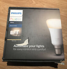 Philips Hue White Starter Kit B22 Smart Bulb Twin Pack LED EU