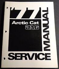 1977  ARCTIC CAT JAG  SNOWMOBILE  SERVICE  MANUAL P/N 0153-121  (320)