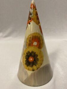 Vintage Clarice Cliff Bizarre Conical Shape Sugar Shaker in Rhodanthe Pattern