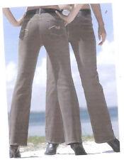Damen-Bootcut-Jeans in Langgröße (en) Hosengröße 36 niedriger Bundhöhe