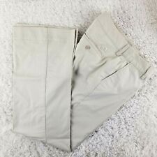 Adidas beige golf pants SIZE 10 light stretch casual trouser slacks (M)