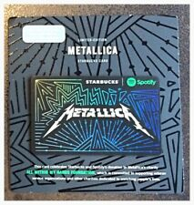 Starbucks Spotify Gift Card - METALLICA - New!