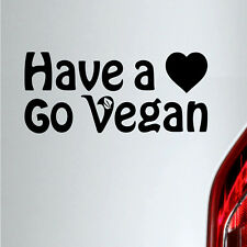 Auto Aufkleber Have a Heart Go Vegan Veganer sticker