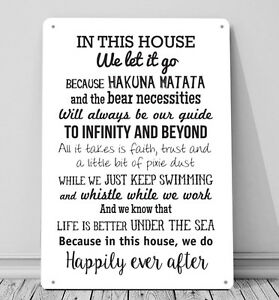 In this House We do, inspired A4 Metal sign plaque wall art home decor