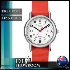 "Timex Women's ""Weekender"" Coral Strap Fabric Watch T2N870 - Free Post in AU"