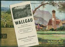 Wallgau bavarese Alpi alte montagne FOTO PANORAMA stanza prezzi 1960 escursionismo