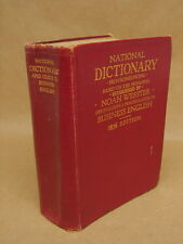 Vintage 1936 National Dictionary Noah Webster Practical Guide Business English