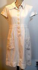 Mac & Jac Size 10 Shirt Dress Silk & Linen Short Sleeve Pockets