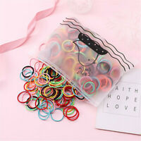 100Pcs Kids Girls No Crease Elastic Hair Bands Ponytail Holder Hair Rope Ties ~
