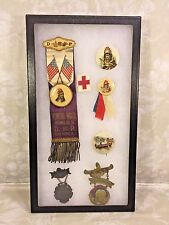 Order of Red Men and Degree of Pocahontas Representative Buttons Early 1900s