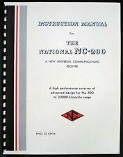 National NC-200 NC200 Radio Receiver Manual