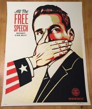 Shepard Fairey Obey Giant PAY UP OR SHUT UP  Signed Numbered Screen Print mint.