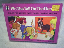 1975 Pin The Tail On The Donkey Game Sealed rainbow works,children,boys & girls