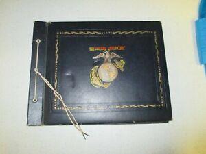 IR43A1 WW2 USMC Photo Album 1st Lieutenant 200+/- Photos Postcards Newspaper