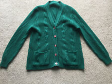 Vintage Cardigan Sweater Small Adult Large Children Hunter Green Purple Buttons