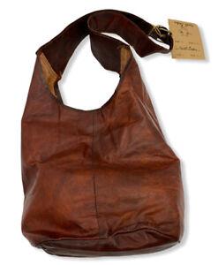 Gusti Leder Goat Leather Pouch Pocket Leather Shoulder/Shopper Bag Vintage Brown