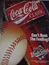 """1989 Coca Cola Original Print Ad-World Series Coke -8.5 x 10.5"""""""