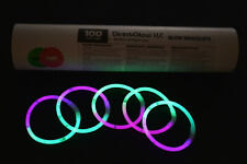 DirectGlow 300ct Green/Pink Glow Bracelets Glow in The Dark Party Favors
