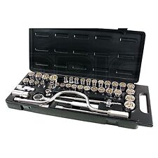 42 Piece 1/2 Inch D Socket Set - Kamasa SS4849 - Metric / AF / Whitworth