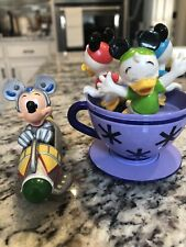 Disney Tea Cups + Astro Orbitor Die Cast Attraction Wdw Theme Park Collection