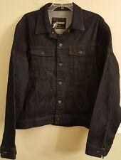 NWT EXPRESS Men's Denim Jacket LARGE Dark Wash #63560