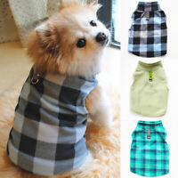 Pet Dog Fleece Harness Vest Clothes Puppy Warm Sweater Coat Shirt Jacket Apparel