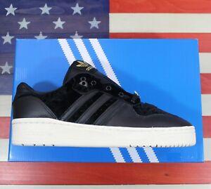 Adidas Rivalry Low Velvet Pack Men Leather Basketball Shoe Black/White [EH0181]