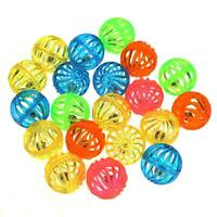 18pcs Plastic Cat Hollow Jingle Bell Balls Kitten Sound Rattle Interactive Toy