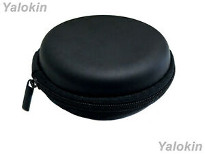 Black Leather Hard Travel Carrying Case for Coins Currency Keys Remotes Lighters