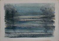GIUSEPPE AJMONE litografia Paesaggio 70x50 firmata numerata 80/99