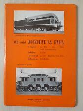 LOCOMOTIVE. F.S.  ITALIA ( 7e  SERIE ) -  ANNEES 60 -  EN  ITALIEN  -