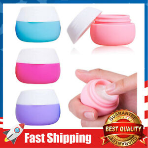 4 Pcs Travel Containers Sets Silicone Cream Jars for Face Hand Body Cream 20ml