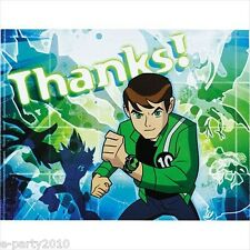 BEN 10 Alien Force THANK YOU NOTES (8) ~ Birthday Party Supplies Stationery Card