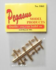 8 GOLD KNOCK OFFS FOR RIMS 1:24 1:25 PEGASUS 1061 MODEL CAR ACCESSORY