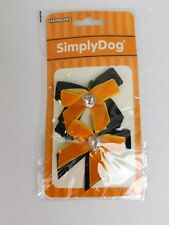 Simply Dog Halloween Rhinestone Hairbows Orange-Black Dog Costume #7022
