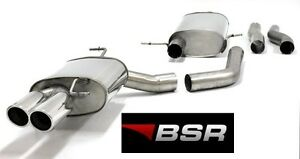 BSR EXHAUST AUDI A4 B8 A5 8T 1.8 2.0 TFSi 2006-2014 NEW STAINLESS & CHROME STEEL