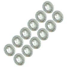 White Beaded Sequin Applique Decorative Stone Appliques Craft Supplies 1 Dozen