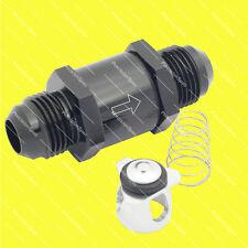 AN8 8AN Aluminium Inline Non Return One Way Check Valve Black W/ 1Yr Warranty
