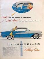 1955 Oldsmobile Super 88 Vintage Advertisement Print Art Car Ad Poster LG73