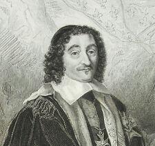 Gravure XIX Pierre Séguier  chancelier de France homme politique