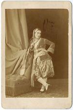 Photo cdv cab. pretty woman Arab or jewish-long braid-C. portier Algeria