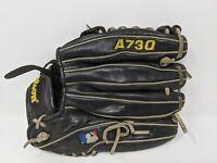 LHT Wilson A730 12.5 Baseball Mitt Glove Left Hand Throw Black Broken In Leather